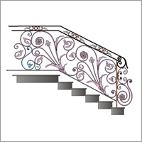 Wrought Iron Mix Railing