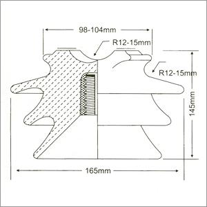 High Voltage Pin Insulator