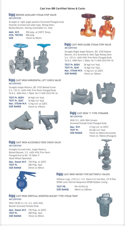 BAJAJ IBR Certified Cast Iron Valves