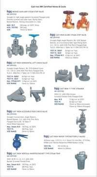 IBR Certified Cast Iron Valves
