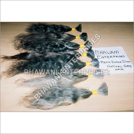 Remy Single Drawn Natural Gray Hair