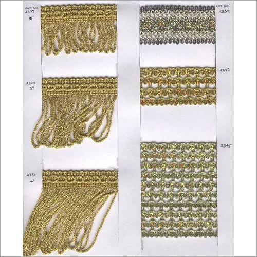 Designer Metallic Fringes