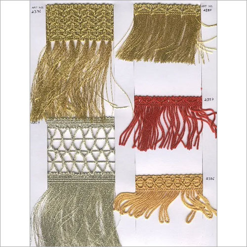 Metallic Fringes for Curtains