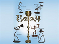 Brass Light Candle Stands