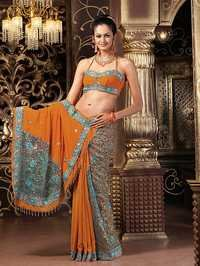 Designer Partywear Embroidered Sarees