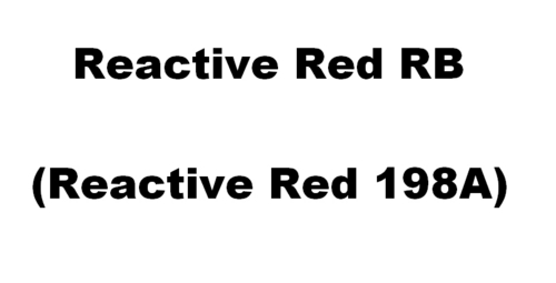 Reactive Red RB Dyes