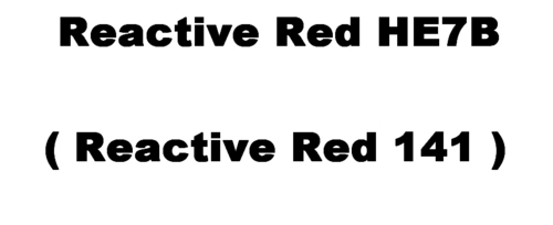 Reactive Red HE7B Dyes