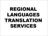 Regional Languages Translation Services