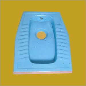 Ceramic Squatting Pan Blue
