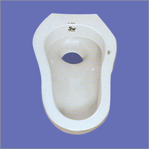 Ceramic Plain White Indian Water Closet