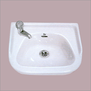 Ceramic Plain White Wash Basin
