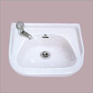Ceramic Plain White Wash Basin