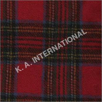 Scottish Check Wool Tweed Fabric