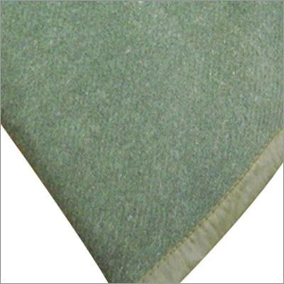 Olive Green Wool Blanket