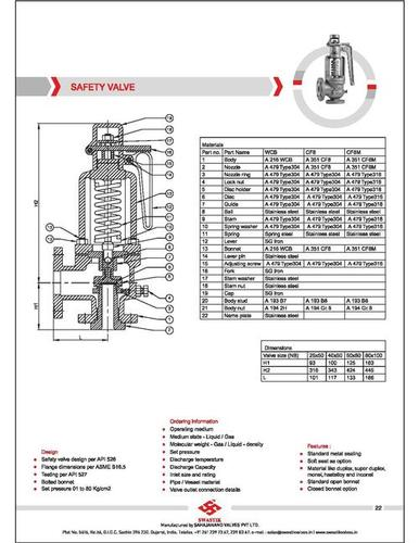 Check and Safety Valve