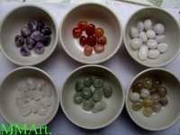 Quartz and agate natural gemstone Pebbles and balls