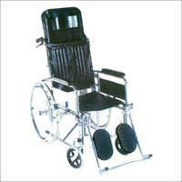 WHEEL CHAIR, Folding+Recline Back (Super DLX):