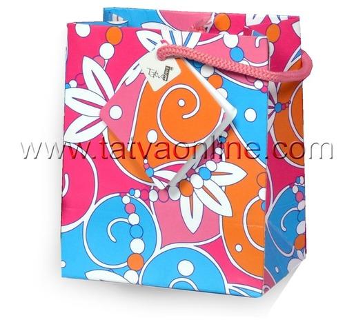 Pink Printed Paper Bags