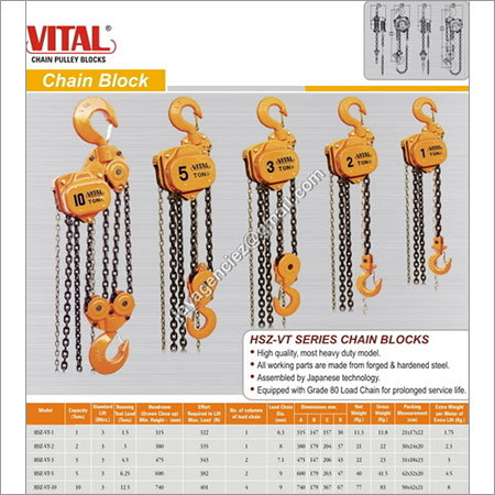 VITAL Chain Pulley Blocks