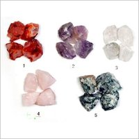 Rough Crystal Amethyst Carnelian pieces