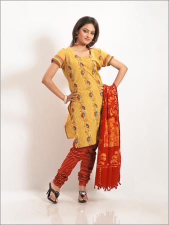 Kantha Work in Cotton Salwar Suit