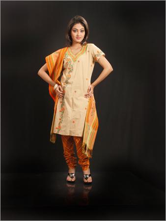 Gujrati Work in Cotton Salwar Suit