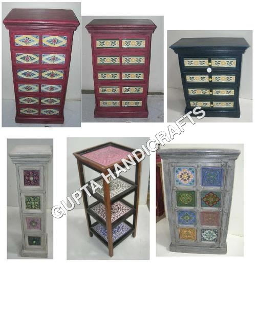 Antique Ceramic Work Furniture