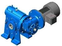 Double Worm Geared Motor