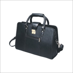 Leather Zippered Briefcase