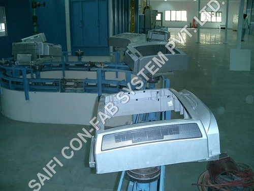 Four Wheel Inverted Conveyor