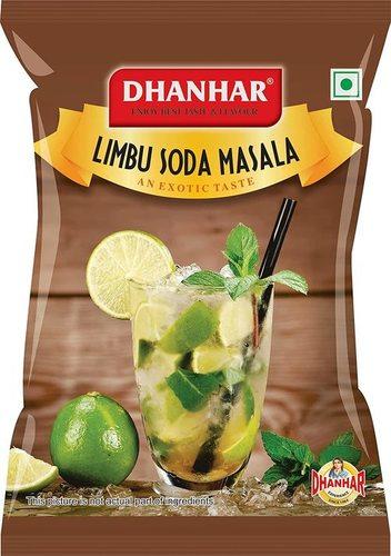 Dhanhar Limbu (Nimbu) Soda Masala Powder   Lemon Soda Powder   Instant Drink Mix Powder, 500 Grams