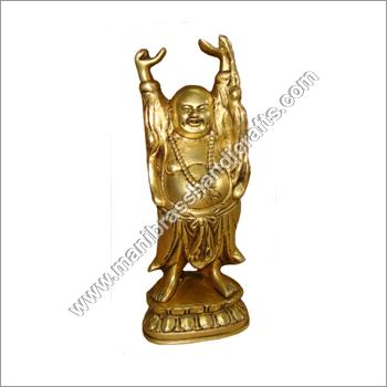 Brass Laughing Buddha Statue