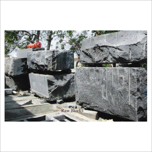 Rough Indian Black Granite