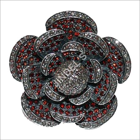 Diamond Flower Cocktail Ring