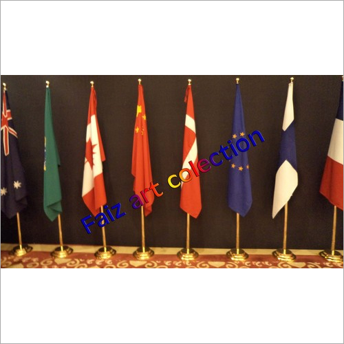 Hand Waving Table Flags