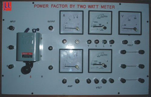 Power factor by two watt meter