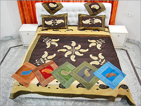 Patch Work Silk Bed Cover