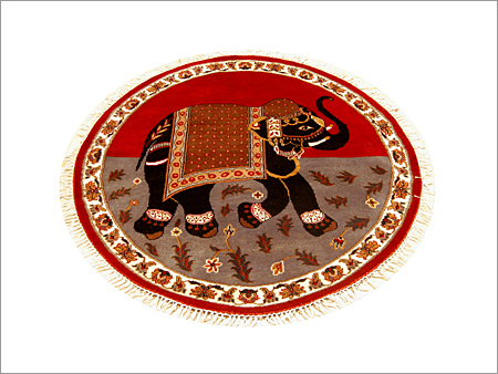 Elehi Round Wool By Cotton Carpet