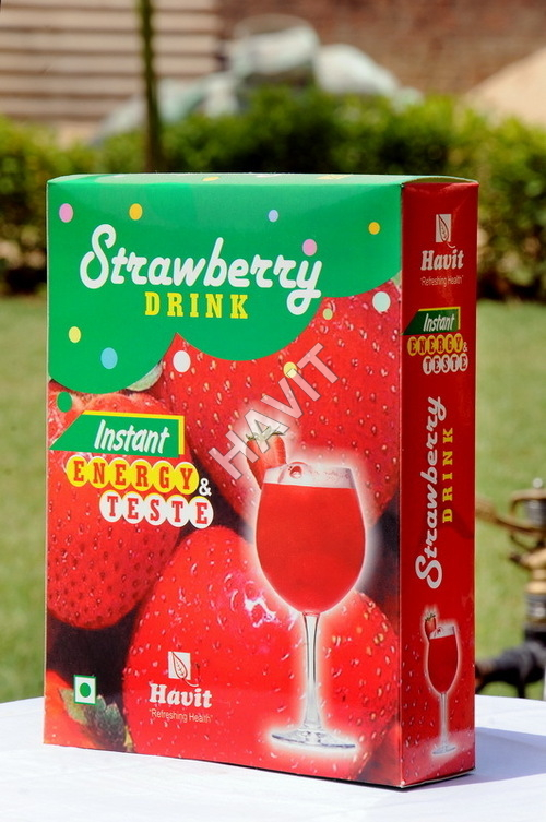 Strawberry Flavored Energy Drink