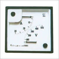 AC Moving Iron Sq 96 Double Range Meters (2-in-1)