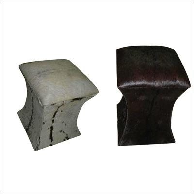 Leather Pouffes
