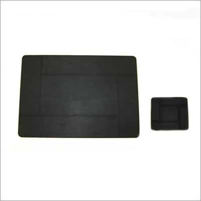 Black Leather Table Mats