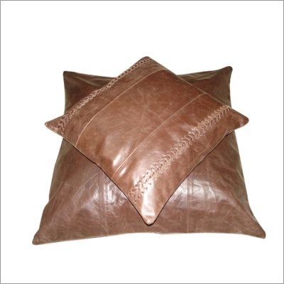 Antique Leather Cushions Cover