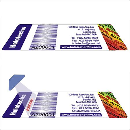 UV Hologram Labels