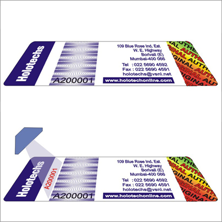 UV Hologram Labels