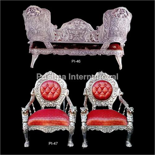 Decorative Silver Color Sofa