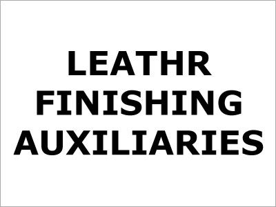 Leather Finishing Auxiliaries