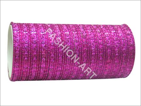 Hot Pink Metal Bangles