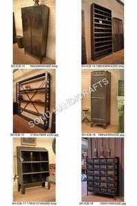 Vintage Industrial Cabinet, Bookself, Furniture