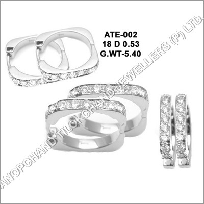 Platinum Diamond Earrings & Tops